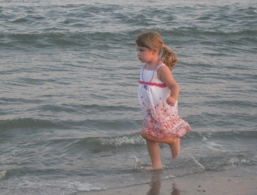 Our daughter,Haley, at the beach when she was 3.