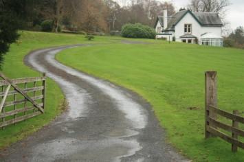 winding driveway home