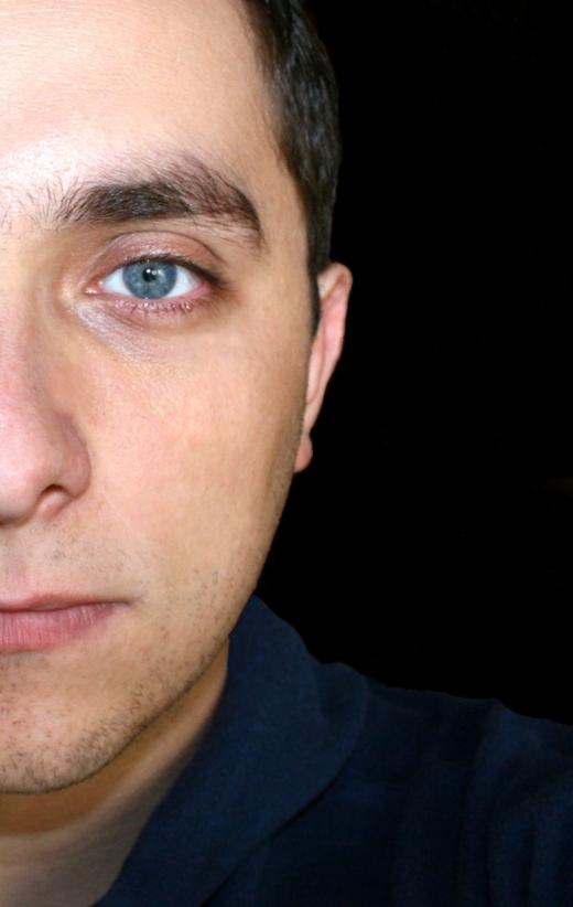 half man's face