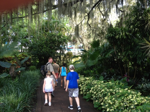 My husband and children at Legoland in historic Cypress Gardens