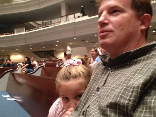 Greg and our daughter at church in 2012