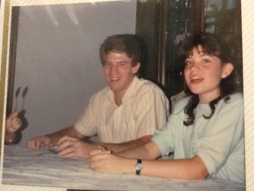 Greg and  April - 3 weeks after we met on 8-27-1988