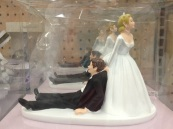 "a pic I took of a ""wedding cake topper at Wal-mart"