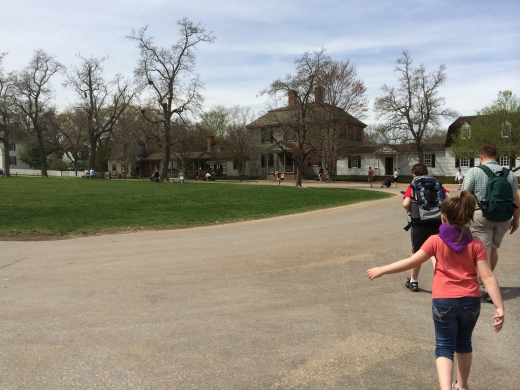 Greg leading the way at Colonial Williamsburg in April 2014