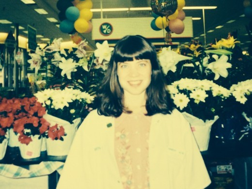 April as a pharmacist in 1998 (25 years old)