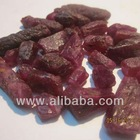 Rough, natural rubies